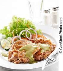 pistachio chicken - delicious pistachio chicken, shallow...