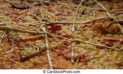 Delicious pizza background