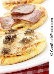 delicious pizza Hors d'oeuvres or finger food appetizer
