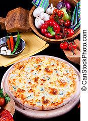 Delicious Pizza Quattro Formagi
