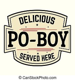 Delicious Po-Boy label or icon