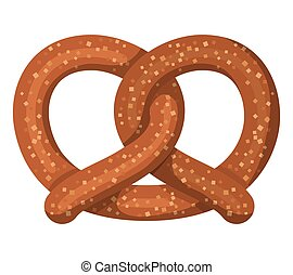 delicious pretzel isolated icon