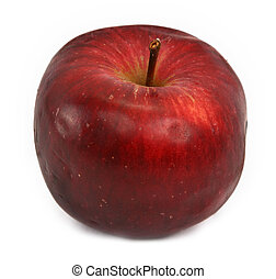 red apple - delicious red apple against white background,...