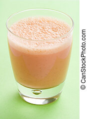 delicious refreshing strawberry orange banana milkshake...