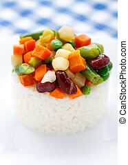 Delicious rice with vegetables