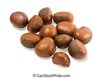 Delicious Roasted Chestnuts on White Background - Food and ...