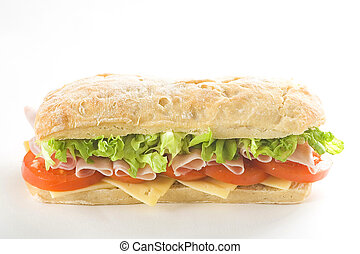 delicious sandwich of ham cheese lettuce tomato - delicious ...