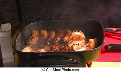 Delicious sausages - A steady medium shop of sausages and...
