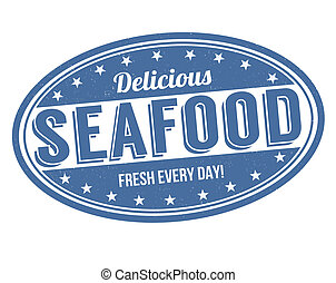 Delicious seafood stamp
