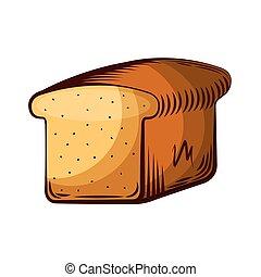 delicious slice bread isolated icon vector illustration...