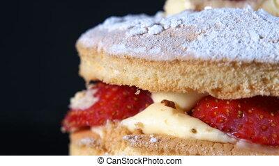 Delicious Strawberry Cake