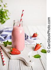 Delicious Strawberry milkshake