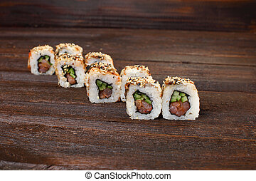 delicious sushi roles