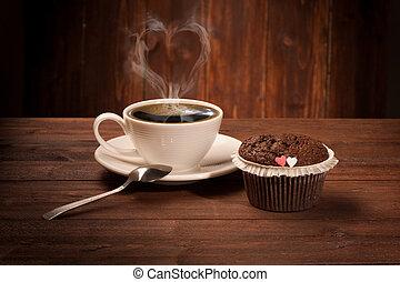 Delicious tasty cupcake