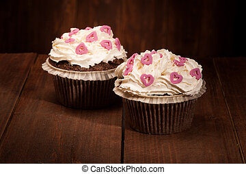 Delicious tasty cupcakes