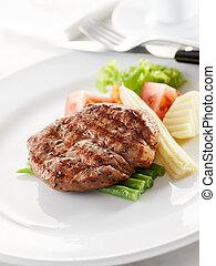 delicious tenderloin steak, shallow depth of field