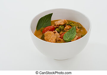 red curry - delicious thai food: red curry in a white bowl