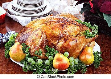 Delicious Turkey Dinner - Thanksgiving or Christmas turkey ...