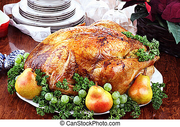 Delicious Turkey Dinner - Thanksgiving or Christmas turkey...