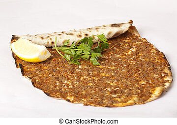Delicious Turkish pizza lahmacun