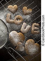 Delicious valentine's cookies