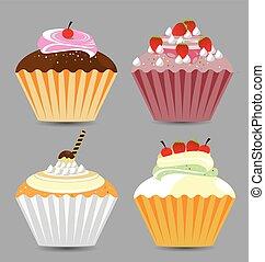 Delicious Vector Cupcakes