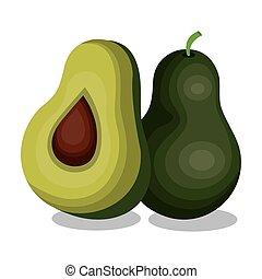 delicious vegetable avocado isolated icon