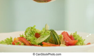 delicious vegetable salad - Salad is delicious and healthy...