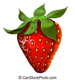 strawberry - delicious vivid red strawberry