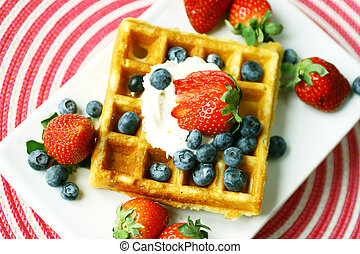 Delicious waffle