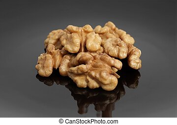 delicious walnuts on a plate