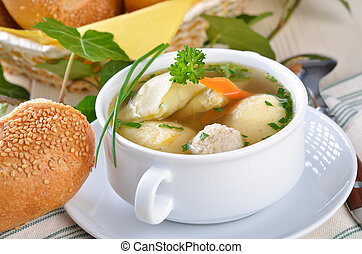 Delicious wedding soup