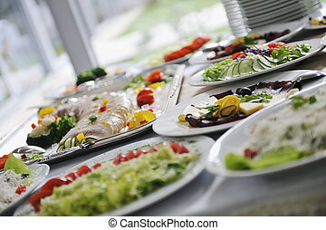 catering food - delicius catering food arrangement on party ...