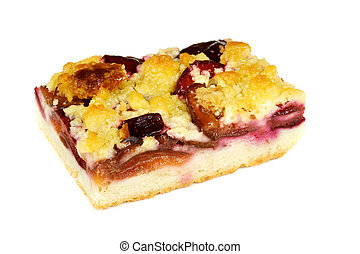 delicous crumb cake with plum