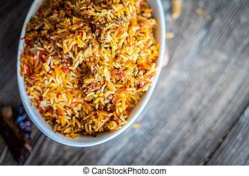 delicous, curry, indio, arroz