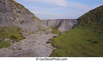 Delika Canyon of river Nervion, Spain - Steep slopes of...