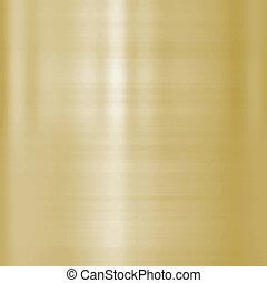delikatny, oczyszczony szczotką metal, złoty