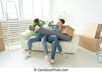 deling, gezin, vrouw, krachtmeting, andere., elke, ruzie, vecht, men., strijd, divorce., eigendom, tussen, echtgenoot, vrouwen