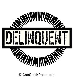 DELINQUENT stamp on white background. Signs and symbols ...