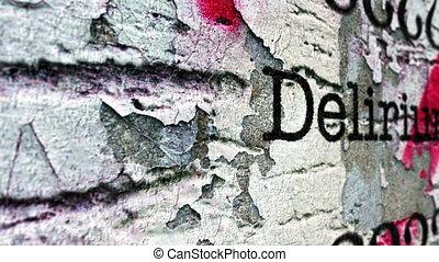 Delirium grunge concept
