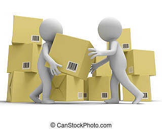 Deliver and package - A people delivering package to the...