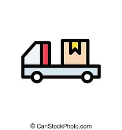 deliver  flat color icon