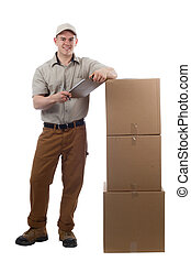 Deliver guy - Divlery guy courier shipping containers