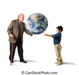 Deliver the world in young people hands. Earth provided by...