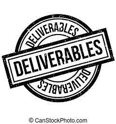 Deliverables rubber stamp. Grunge design with dust...