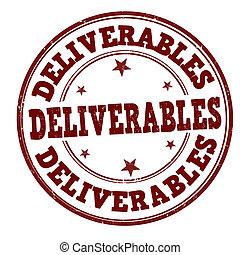 Deliverables stamp - Deliverables grunge rubber stamp on...