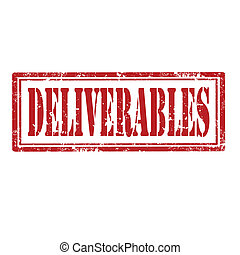 Deliverables-stamp - Grunge rubber stamp with word...
