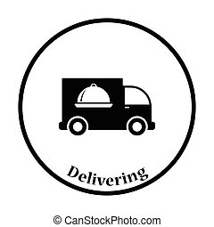 Delivering car icon