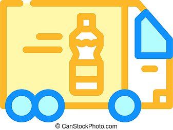 delivering oil truck color icon vector illustration