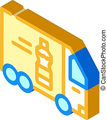 delivering oil truck isometric icon vector illustration